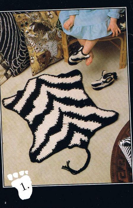вязаные коврики для детей