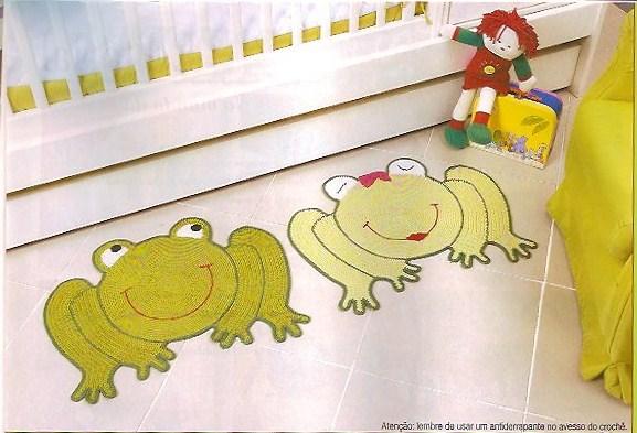 Вязаные коврики для детской +