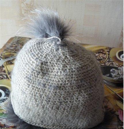 Вязаная меховая шапка. Мастер класс от Ларисы Савицкой