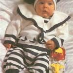 костюм для новорожденного морские мотивы