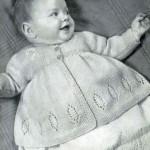 кофточка спицами для новорожденной