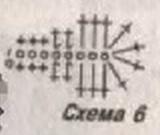кофточка крючком схема