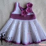 вязаное крючком платье от Пуси