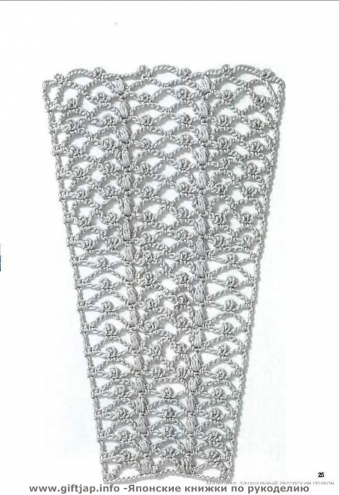 узор крючком для юбки схема