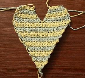 вязаное сердце