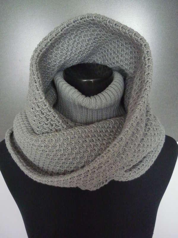 Так выглядит вязаный снуд-шарф