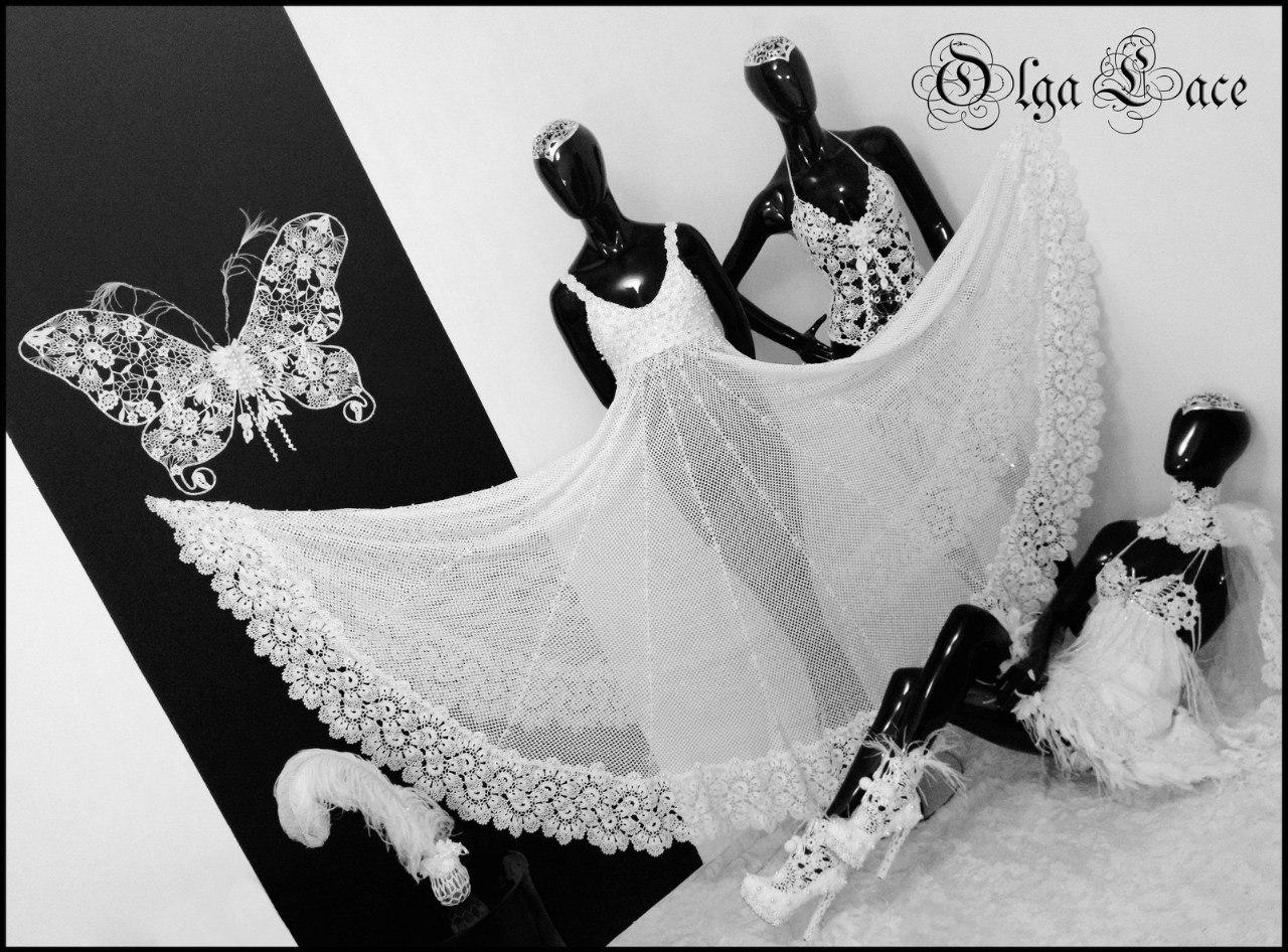 Olga Lacе вязаное платье