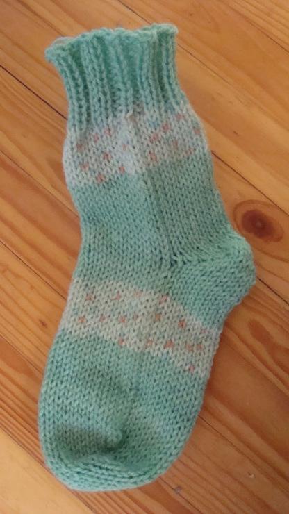 вязание носков спицами