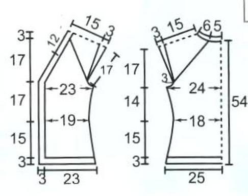 вязаный жилет выкройка