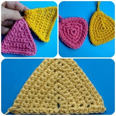 треугольники крючком
