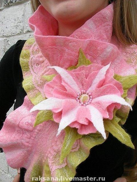 Валяные шарфы и горжетки Регины Журавлевой