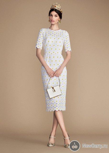 Платье с ромашками дольче габбана