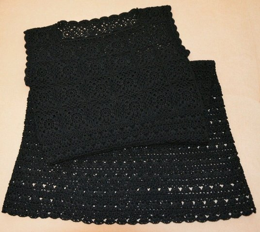 вязаное платье черное