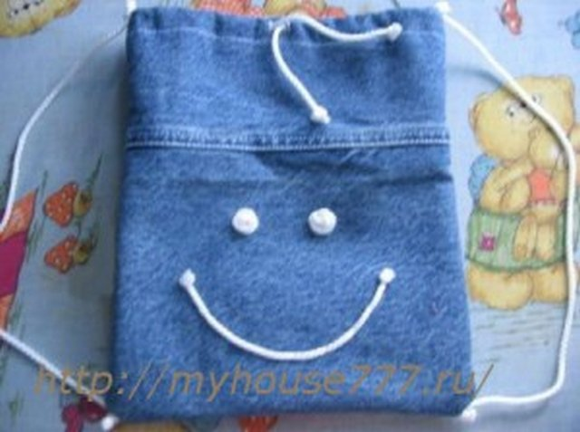 из старых джинсов детский рюкзак