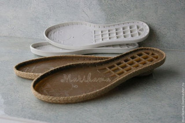 вязаная обувь подошва