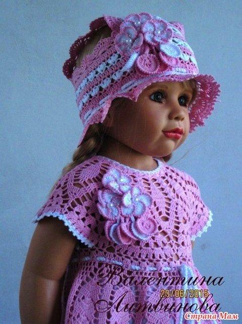 Очень красивые вязаные платья для девочек Валентины Литвиновой