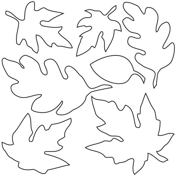 Осенние листья из бумаги + шаблоны