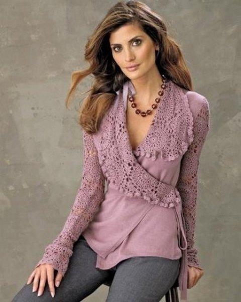 Вязание и ткань: красивый жакет