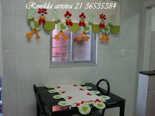 шторы и скатерть на кухне