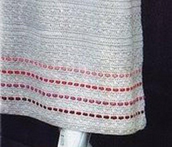 вязаное пальто отделка