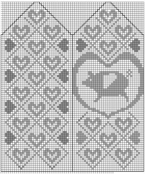 Жаккард спицами: животные, птицы и даже рыба схемы