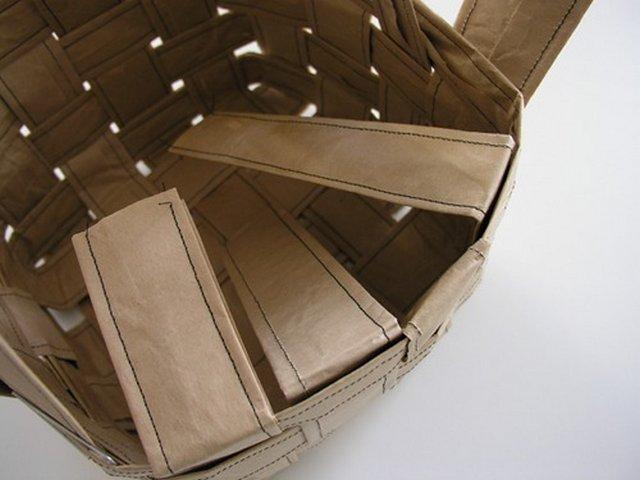 корзинка из бумаги