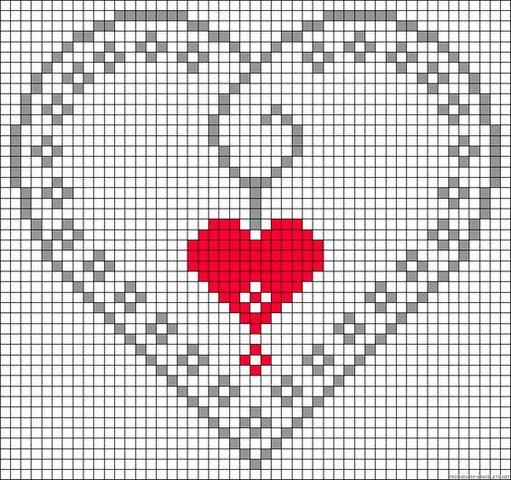 сердечко вышивка крестиком