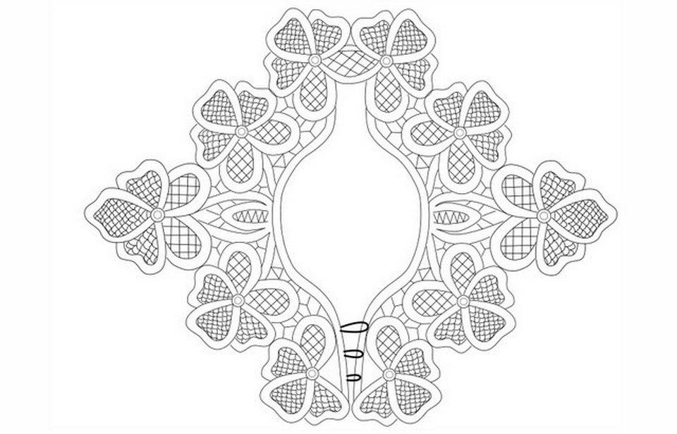 румынское кружево схемы