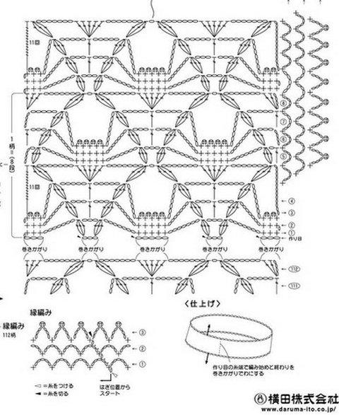 рисунки вязания снудов
