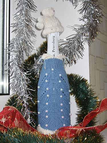 украсить шампанское на Новый год