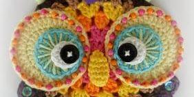 Вязаные совы. Только глазки