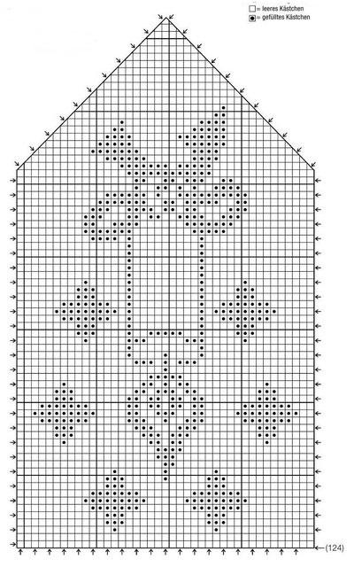 Рождество схемы филейное вязание 47