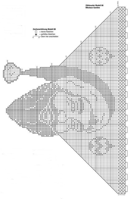 Рождество схемы филейное вязание 88