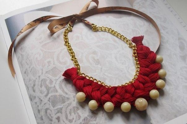Делаем красивое ожерелье с бусинами