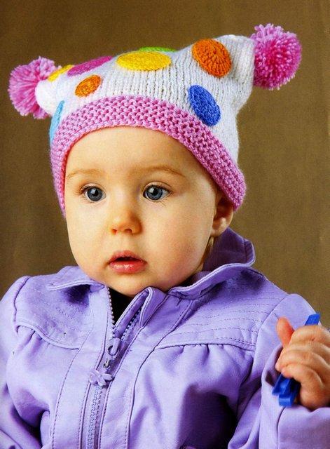 вязаная детская шапочка мыльные пузыри описание Razpetelkaru