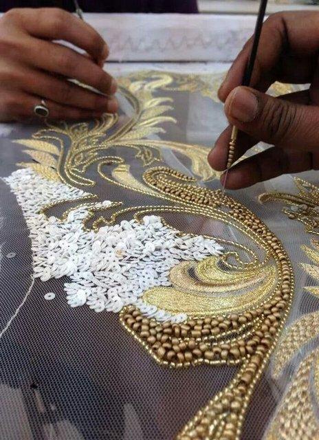 вышивка бисером индийская мастер класс Razpetelkaru