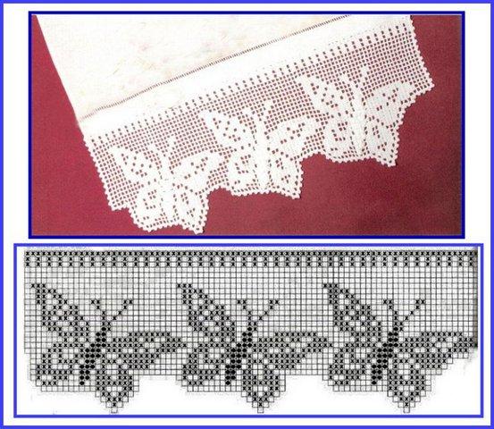 кайма крючком филейное вязание очень красиво схемы Razpetelkaru