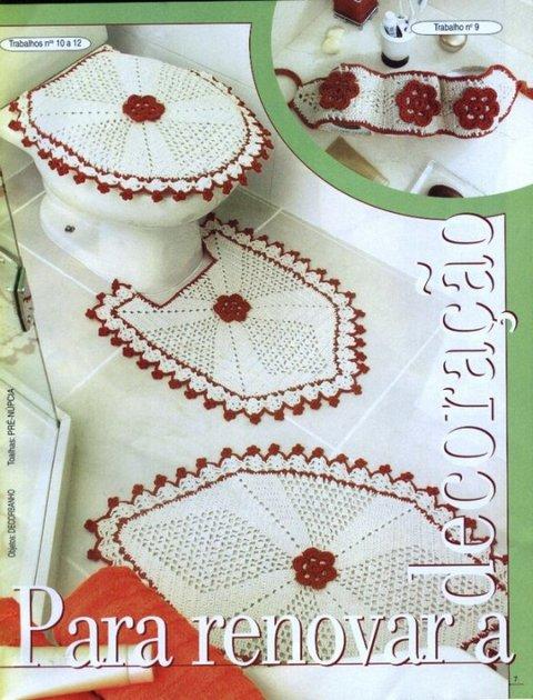 коврик для ванной комнаты фото схема вязания Razpetelkaru
