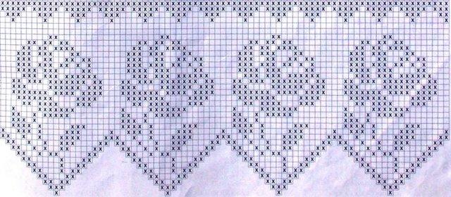 филейное вязание розы схемы Razpetelkaru