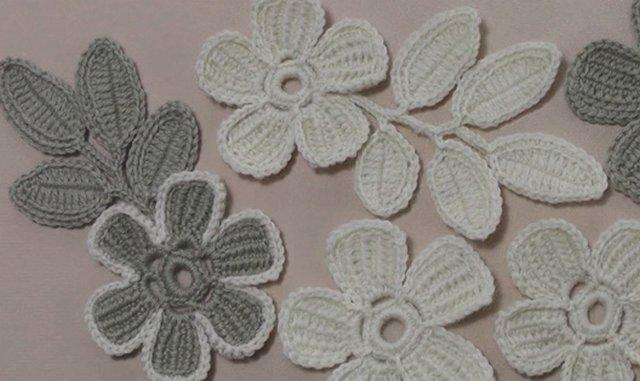 цветок крючком с лепестками тунисского вязания мастер класс