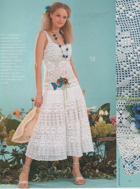 красивые вязаные платья филейное вязание Razpetelkaru