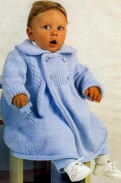 вязаное пальто детское