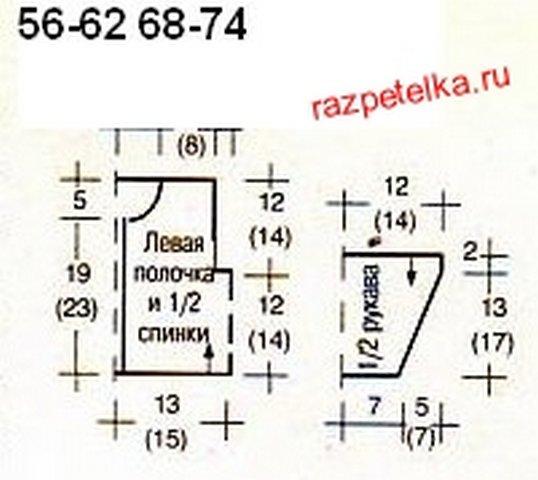 вязаные кофточки для новорожденных выкройки Razpetelkaru