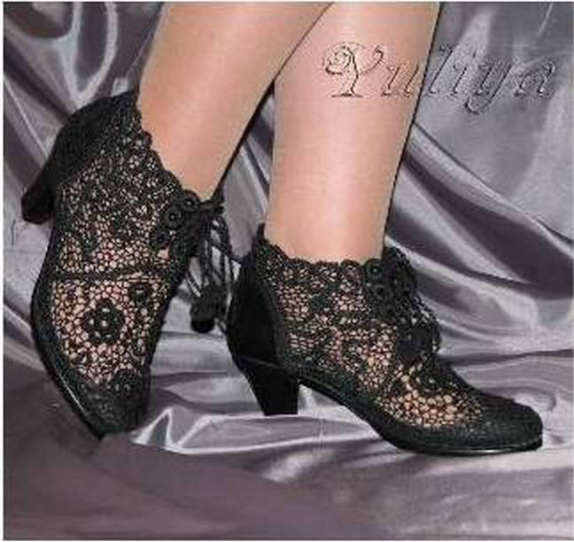 2229f9aefe780d Вязаные сапожки для царицы | razpetelka.ru