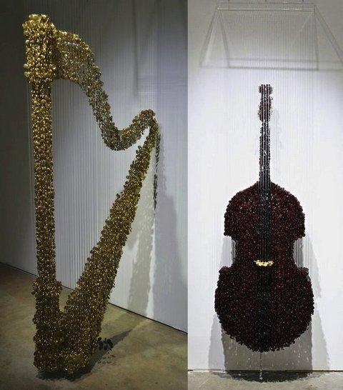 скульптуры из пуговиц