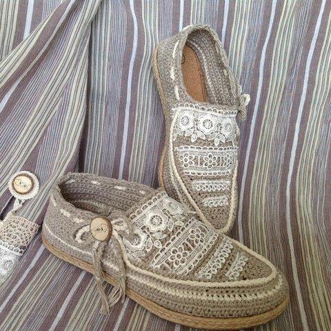 вязаная обувь супер мокасины Razpetelkaru