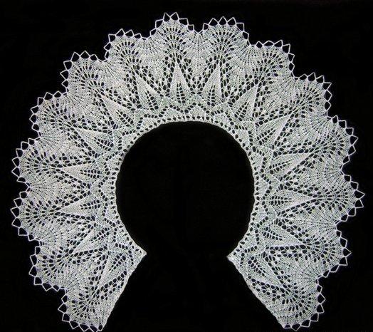 вязаный воротник спицами шевалье описание схемы Razpetelkaru