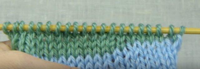 укороченные ряды или частичное вязание спицами переход совсем не