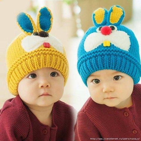 вязаные шапочки