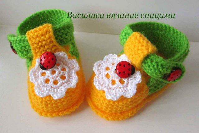 pinetki-spicami_2 Как вязать красивенькие пинетки спицами на лето (мастер-класс)